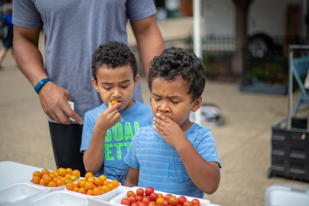 two-brothers-tasting-tomatoes